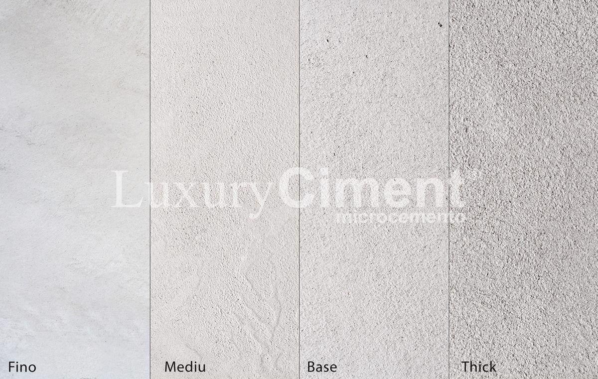 Texturas y aspecto del microcemento fina, lisa, rústica y granulada