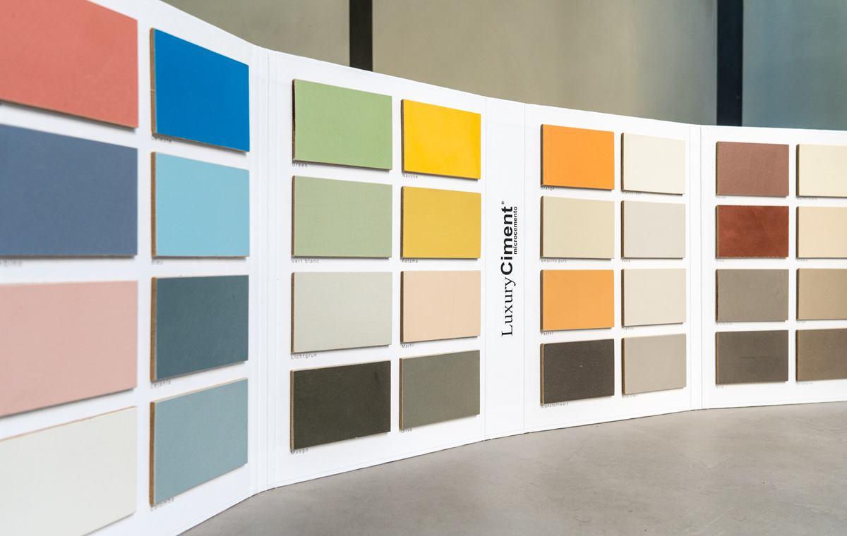 carta de colores y materiales de LuxuryCiment