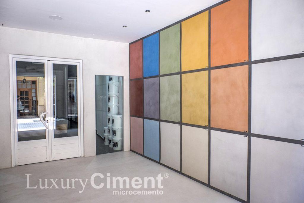 muestras de color en nuestro Showroom microcemento Luxury Ciment