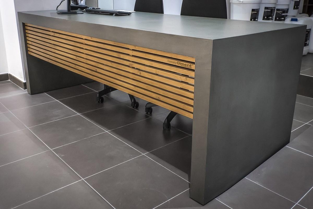 Muebles revestidos con microcemento dise o nico y for Aplicacion para disenar muebles