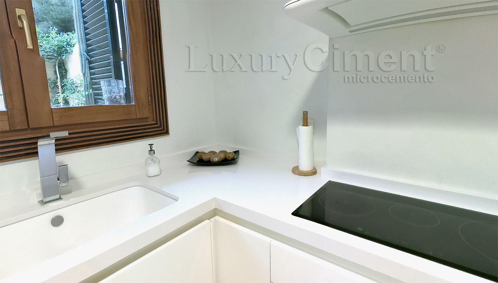 Microcemento en suelos paredes ba os cocinas para interior y exterior - Encimeras de microcemento ...