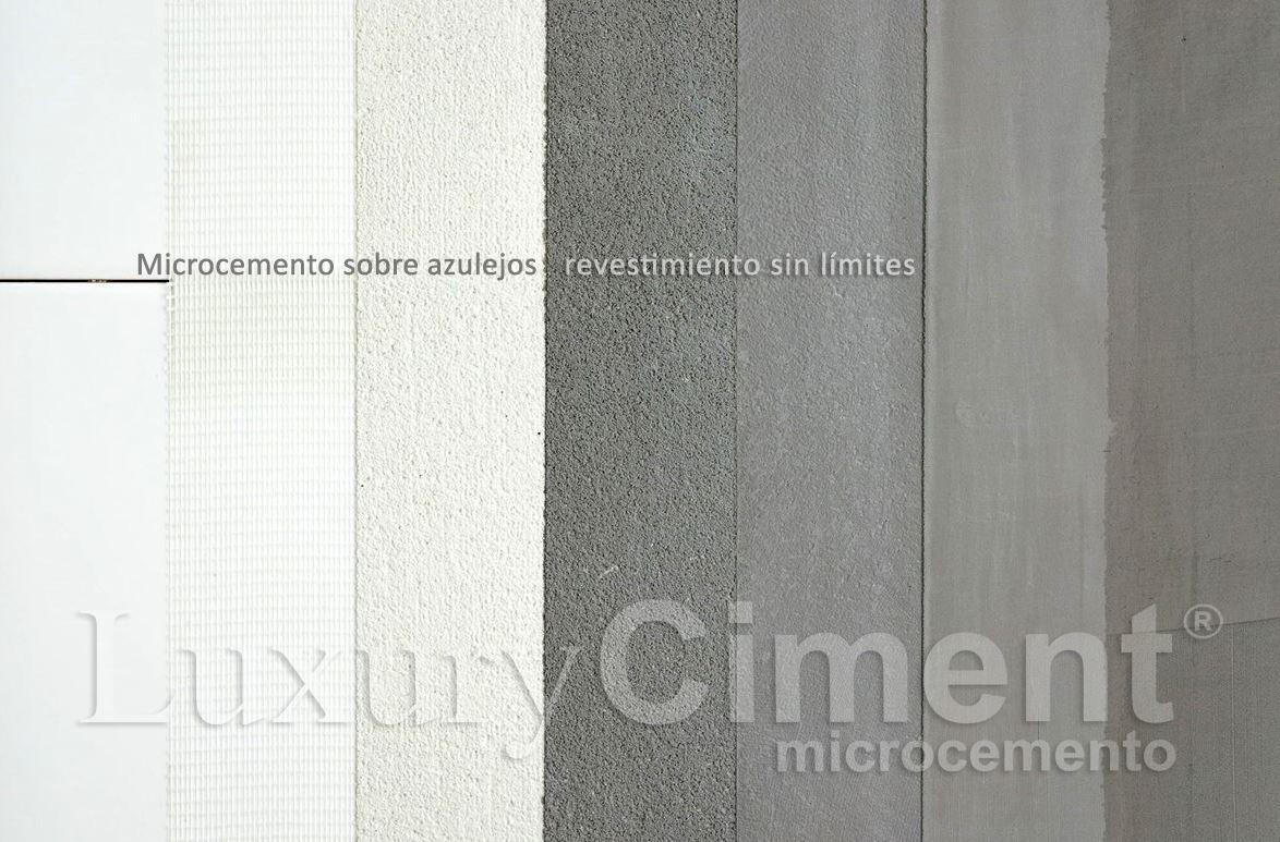 Microcemento sobre azulejo, aplicación capa a capa