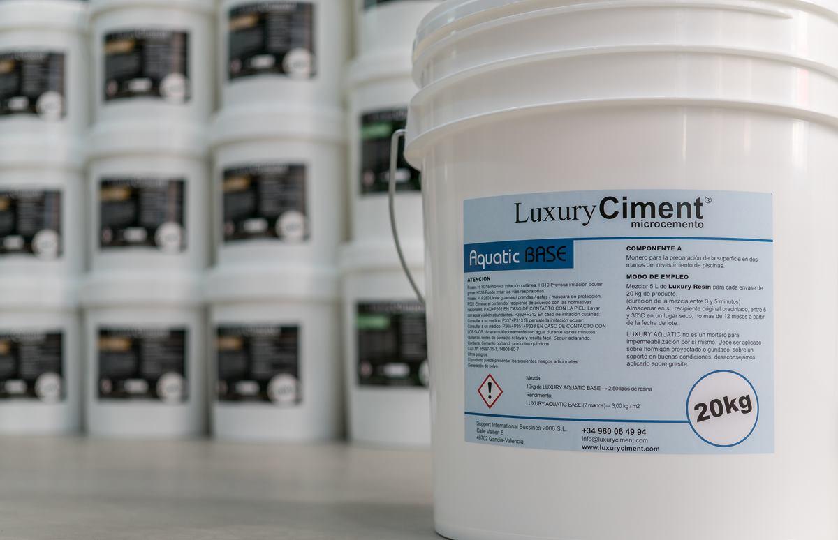 Luxury Aquatic Base Microcemento de preparación para revestimiento de piscinas
