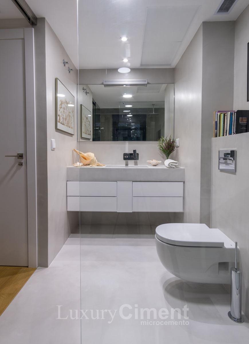 Microcemento en suelos paredes ba os cocinas para interior y exterior - Paredes de microcemento ...