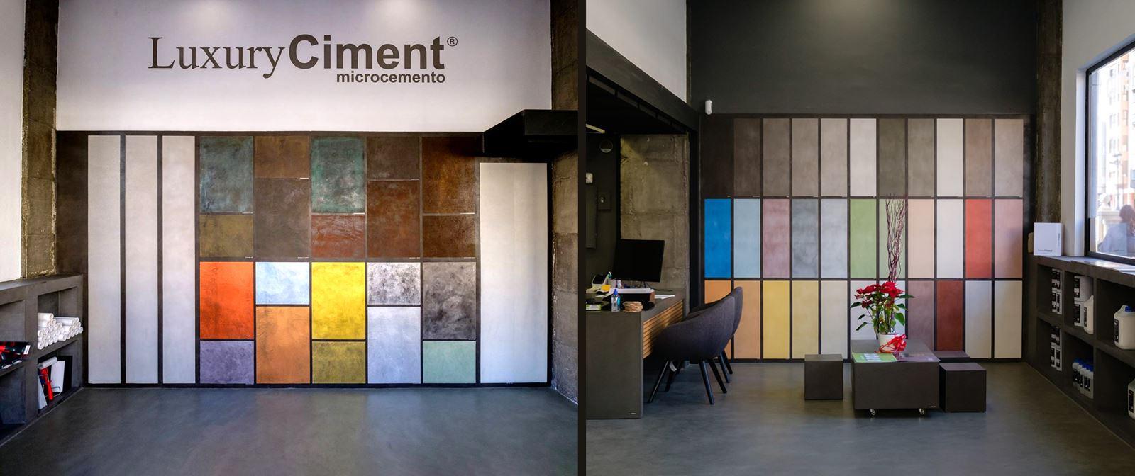 Microcemento luxuryciment delegación tienda Valencia