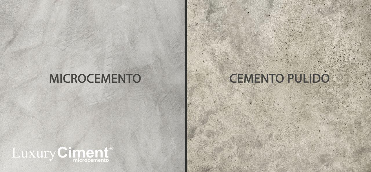 diferencia entre revestimiento con microcemento y suelo de cemento pulido