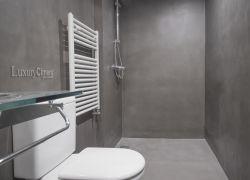 Baño con continuidad y armonía, microcemento luxuryCiment
