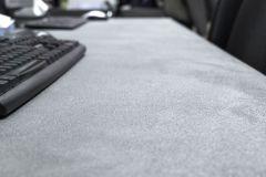 revestimiento rustico mueble de microcemento escritorio gris