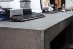 revestimiento rustico mueble de microcemento escritorio